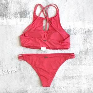 Roxy Swim - Roxy Softly Love High Neck Strappy Bikini Set L